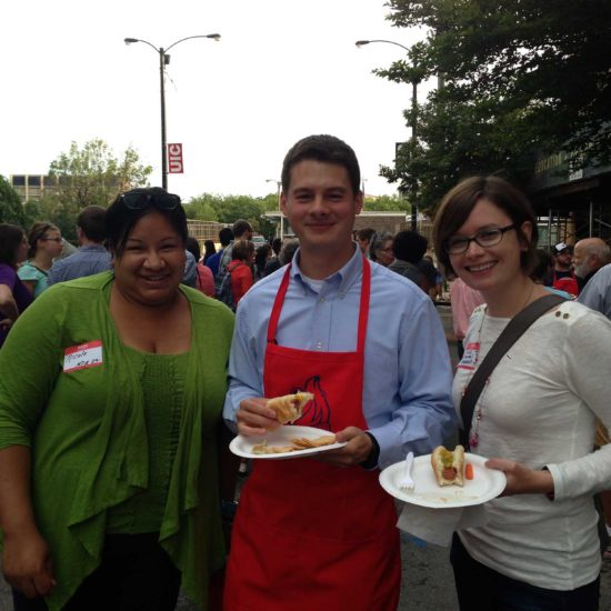 Nicole Sims, Michael McDermott, and Moira Wornement, CUPPA Alumni