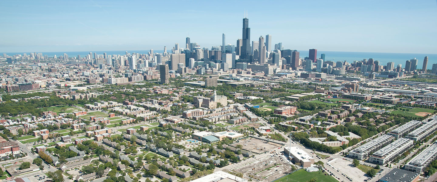 arial image of chicago