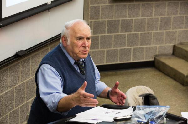 Dean Eitel in class