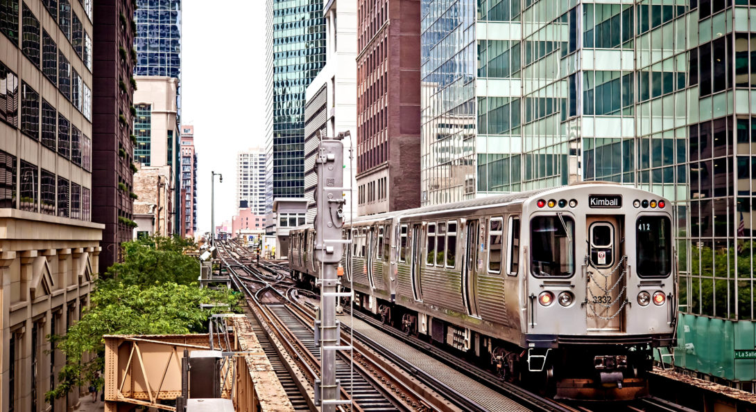 Chicago train image
