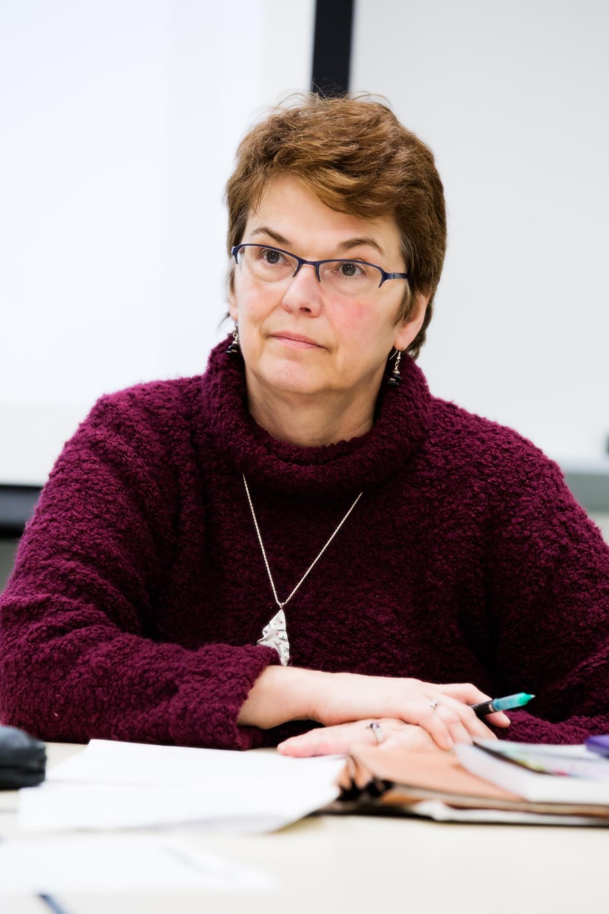 Rebecca Hendrick in class
