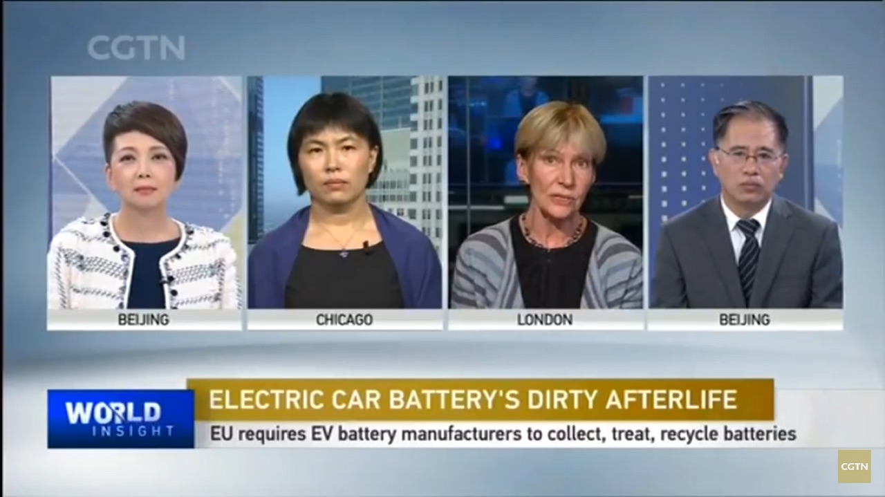 Ning Ai in panel discussion on ev battery recycling implication