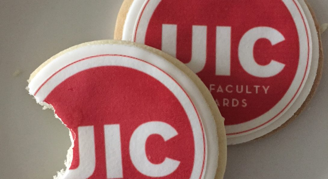cookies with UIC faculty awards celebration logo