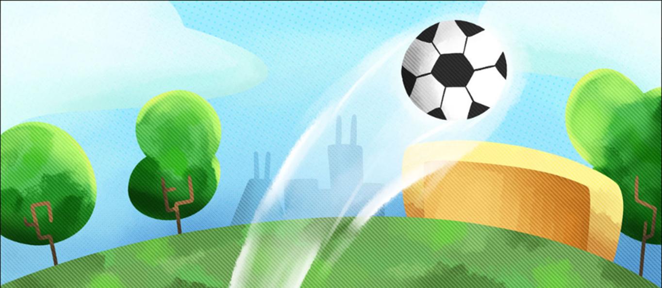 Soccer going into goal