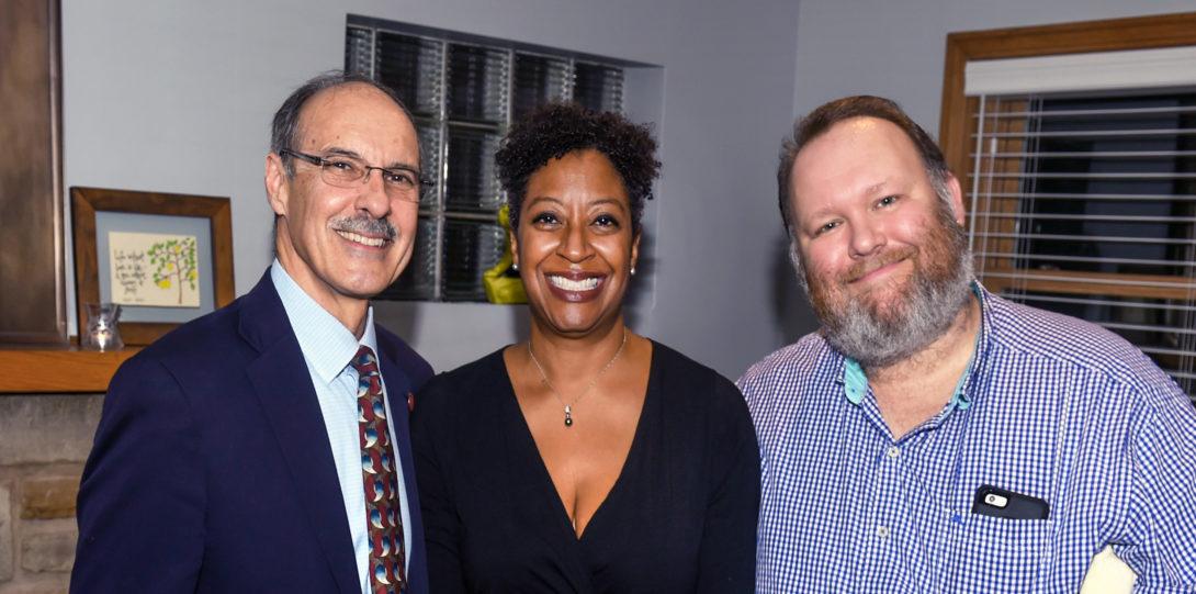 Michael A. Pagano and alumni Shelley Davis, MUPP and Peter Czubak, MPA