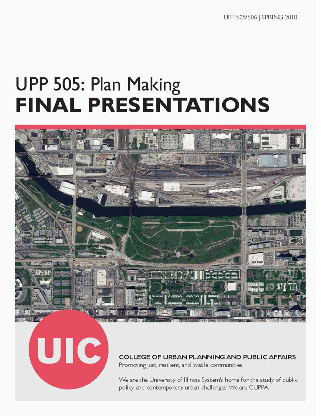 Cover of UPP 505 Plan Making Final Presentations