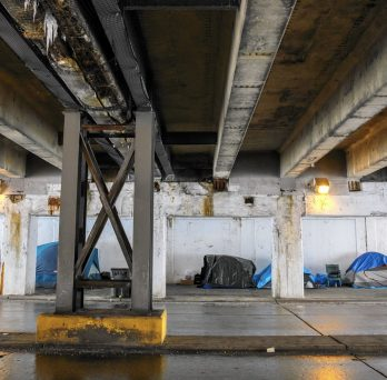 Chicago Homeless Under Bridge