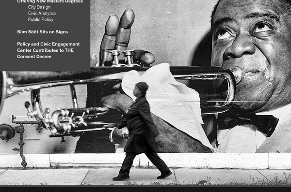 Louis Armstrong in a Devins mural in Chicago Cover