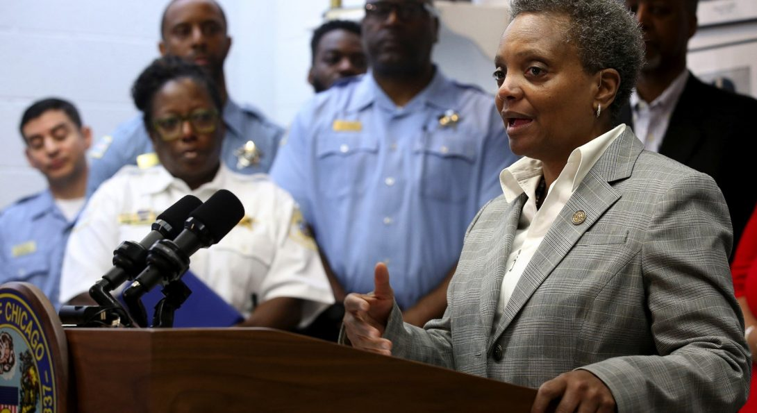 Lightfoot Speaking to Chicago Police