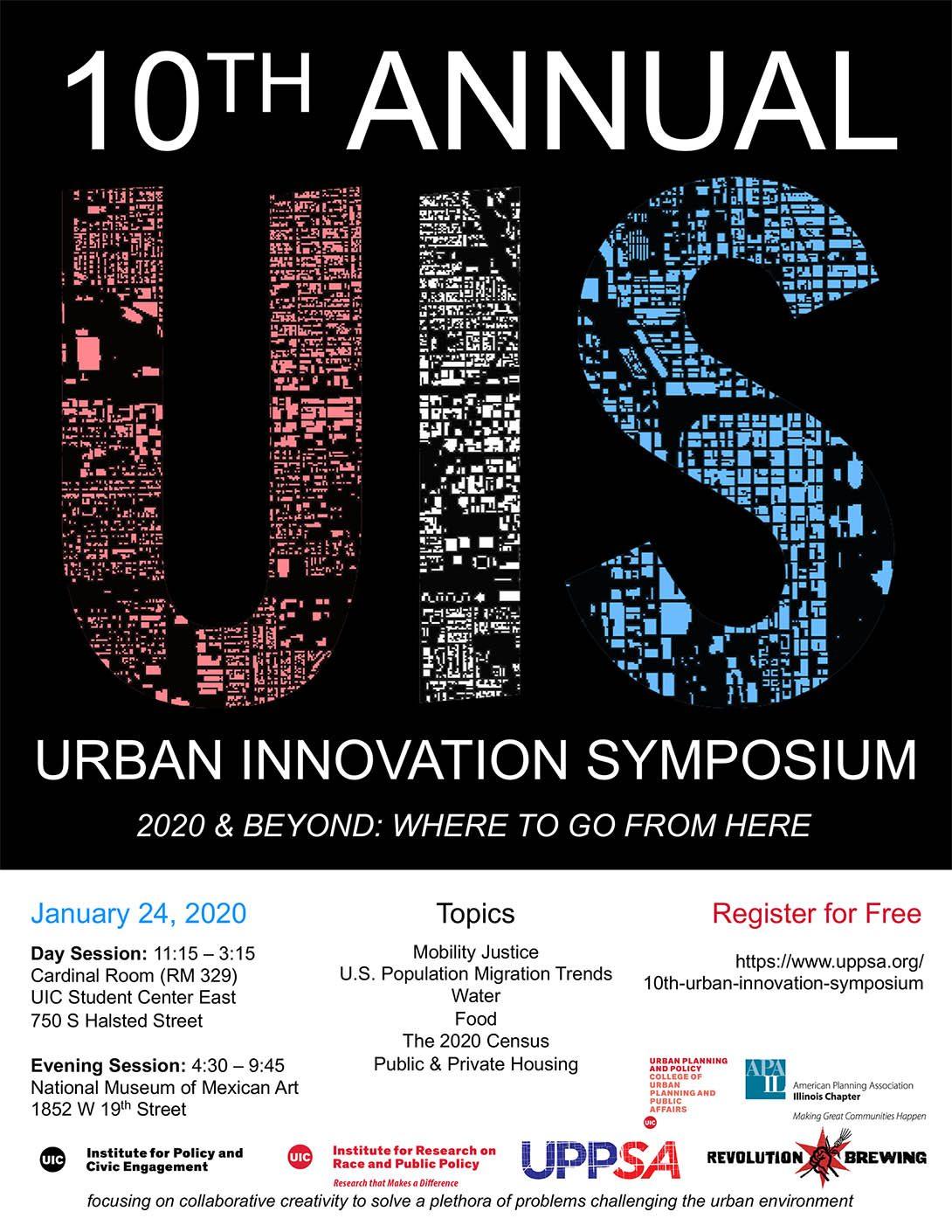 Urban Innovation Symposium grid flyer