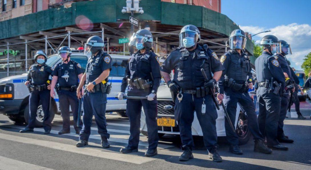 Police In Face Masks
