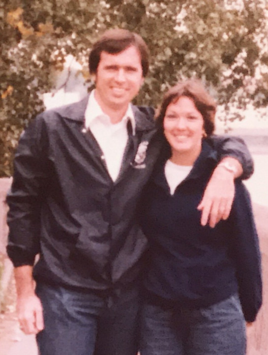 Darl Hall with his wife, Marilyn Hall, in the early 70s