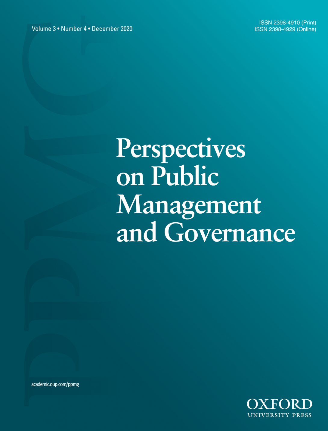 perspectives on public management and governance  cover