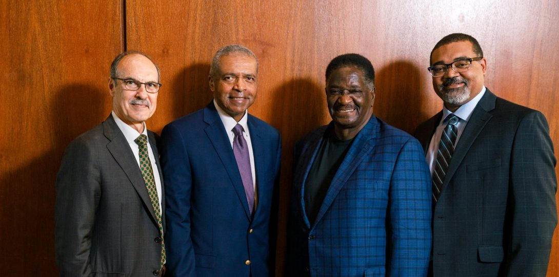 Michael A. Pagano and former UIC Vice Chancellor Warren Chapman, ____, and Institute for Policy and Civic Engagement Director Joe Hoereth